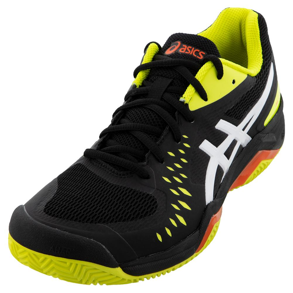 Men's Gel- Challenger 12 Clay Tennis Shoes Black And Sour Yuzu