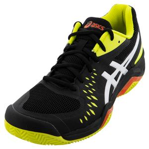 Men`s GEL-Challenger 12 Clay Tennis Shoes Black and Sour Yuzu