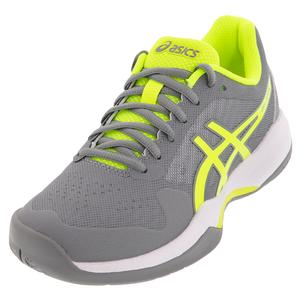 Women`s GEL-Game 7 Tennis Shoes Stone Gray and Safety Yellow