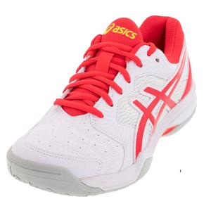 Women`s GEL-Dedicate 6 Tennis Shoes White and Laser Pink
