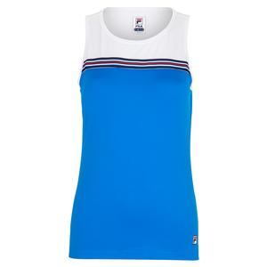 377c0885f8b2d NEW Women`s Sleeveless Tennis Tank Electric Blue and White Fila ...