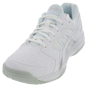 Men`s GEL-Dedicate 6 Tennis Shoes White and Silver