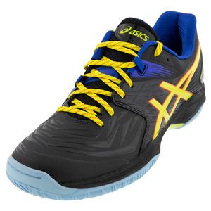 Men`s Blast FF Squash Shoes Black and Sour Yuzu