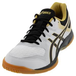 Men`s GEL-Rocket 9 Squash Shoes White and Black