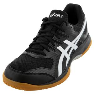 Men`s GEL-Rocket 9 Squash Shoes Black and White