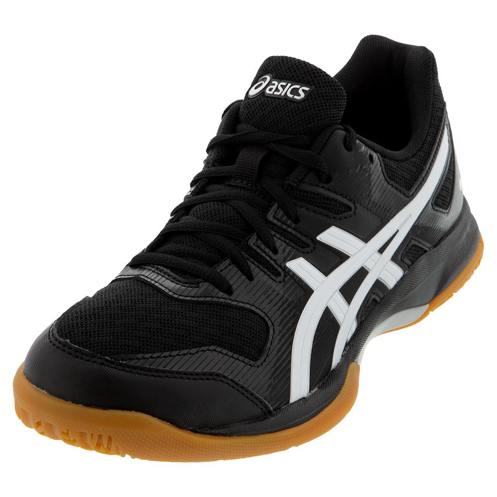 Women's Gel- Rocket 9 Squash Shoes Black And White