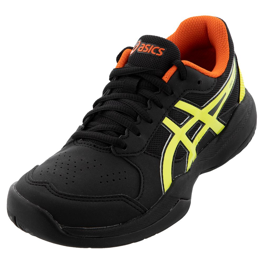 Juniors ` Gel- Game 7 Gs Tennis Shoes Black And Sour Yuzu
