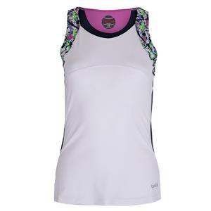 Women`s Ripple Effect Tennis Tank White
