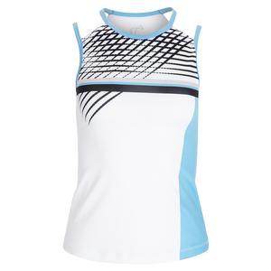 Women`s Lines Victory Tennis Tank Blue
