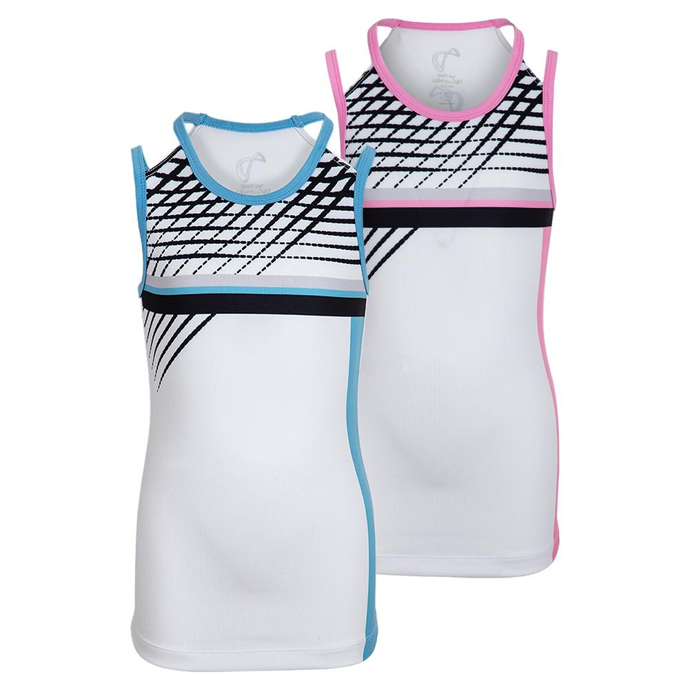 Girls ` Lines Victory Tennis Tank