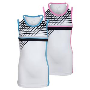 Girls` Lines Victory Tennis Tank