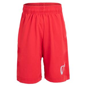 Boys` Legacy Knit Tennis Short Red