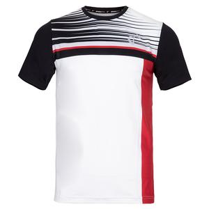 Men`s Finish Line Mesh Back Ventilator Tennis Crew Red