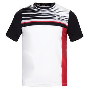 Boys` Finish Line Mesh Back Ventilator Tennis Crew Red