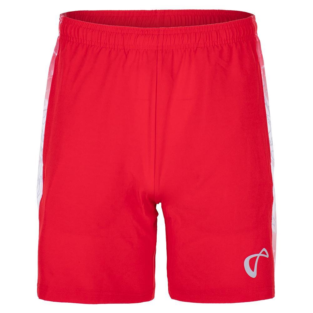 Men's Amorphous Deuce Woven Panel Tennis Short Red