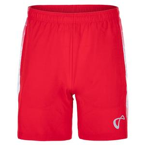 Men`s Amorphous Deuce Woven Panel Tennis Short Red