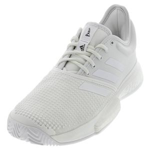 Men`s SoleCourt Boost Parley Tennis Shoes White and Core Black