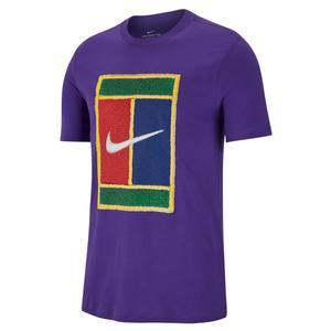 Men`s Court Heritage Logo Tennis Tee Court Purple