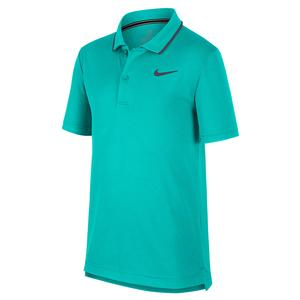 Boys` Court Dry Team Tennis Polo Hyper Jade