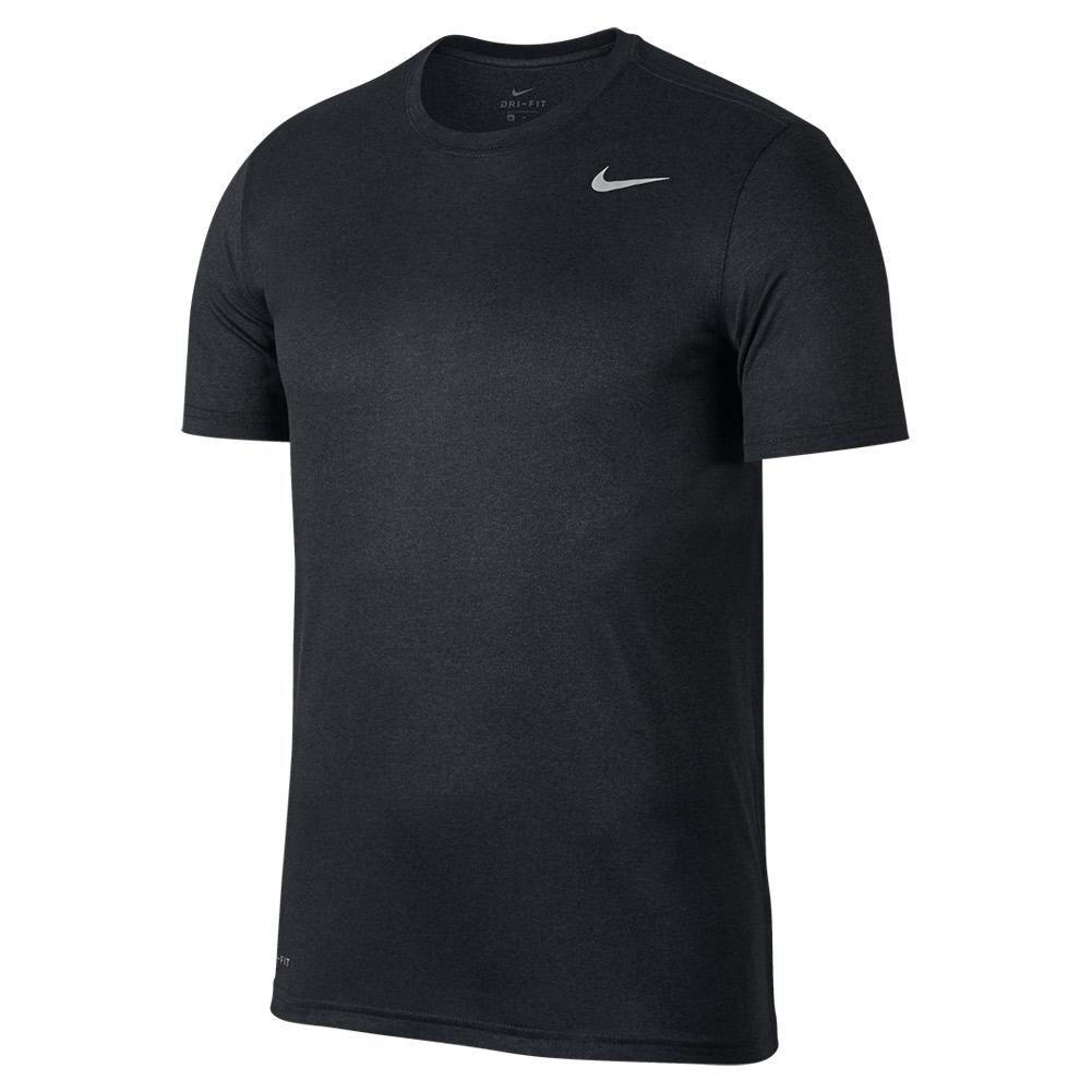 fe412d5b5 Nike Men`s Dry Training T-Shirt Black and Anthracite | Tennis Express