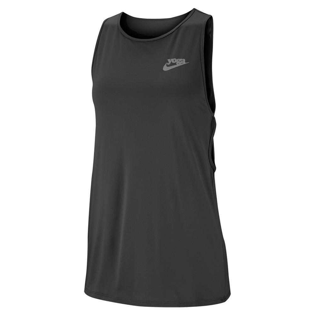 Women's Yoga Training Tank Black And Vast Grey