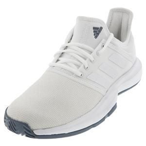 Men`s GameCourt Tennis Shoes White and Tech Ink