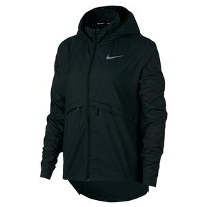 Women`s Essential Packable Running Rain Jacket Black