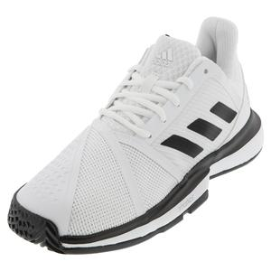 Men`s CourtJam Bounce Wide Tennis Shoes White and Core Black