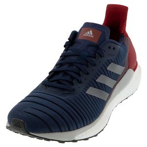 Men`s Solar Glide 19 Running Shoes Collegiate Navy and Gray Five