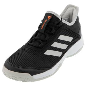 Juniors` Adizero Club K Tennis Shoes Core Black and White