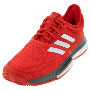 Men`s SoleCourt Boost Tennis Shoes Active Red and White
