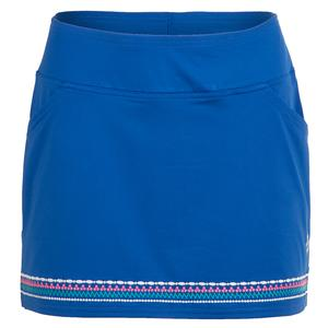Women`s Embroidered Tennis Skort Nautical Blue