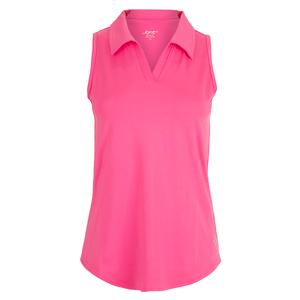 Women`s Cutaway Tennis Polo Rose Pink