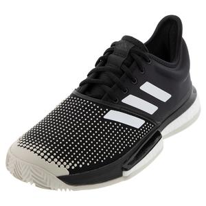 Men`s SoleCourt Boost Clay Tennis Shoes Core Black and White