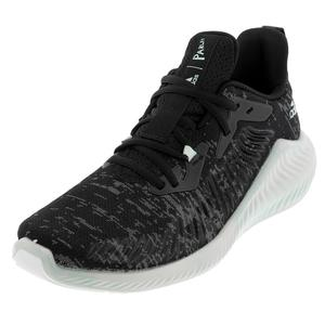 Men`s Alphabounce+ Parley Running Shoes Core Black and Linen Green