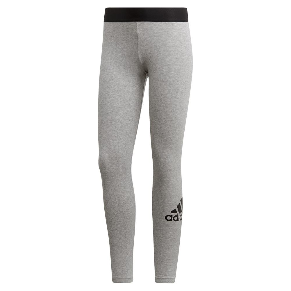 Women's Must Haves Badge Of Sport Tight Medium Grey Heather And Black
