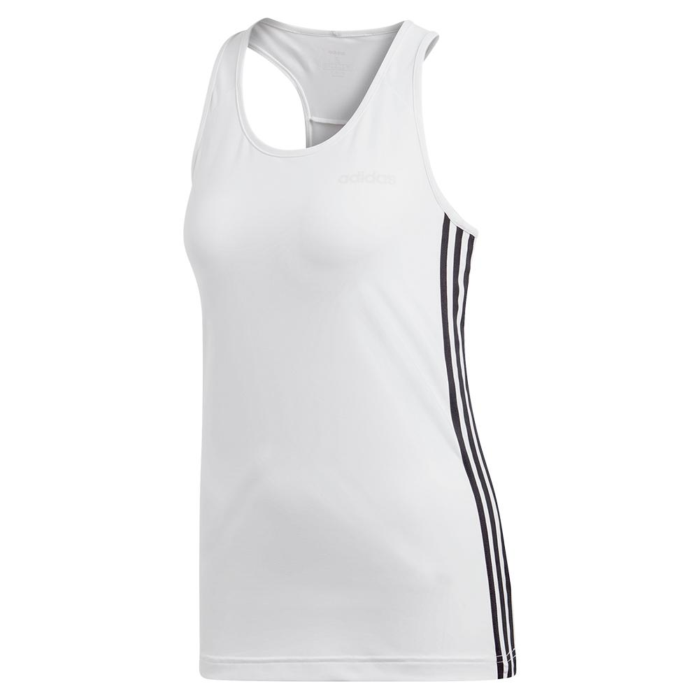 Women's Design 2 Move 3- Stripes Tank White And Black