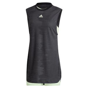 Women`s NY Tennis Dress Black and Glow Green