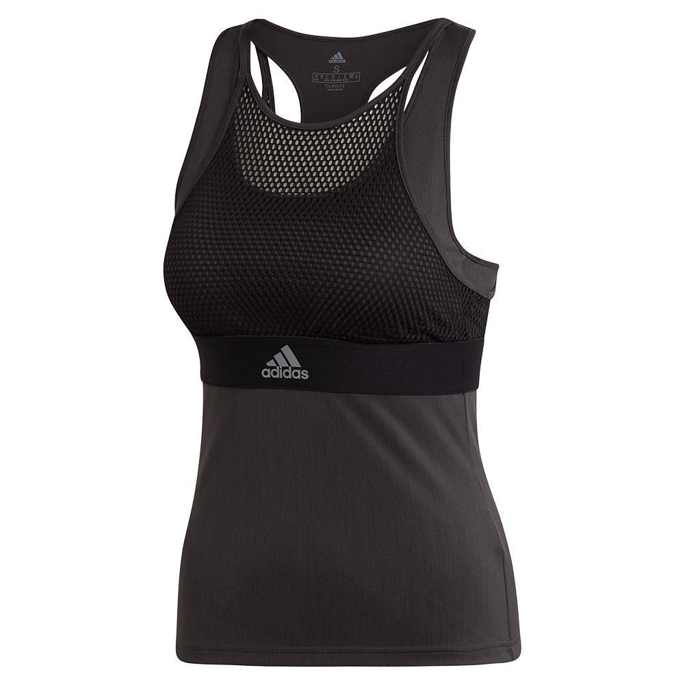 b7451a0f5c adidas Women's New York Tennis Tank in Black