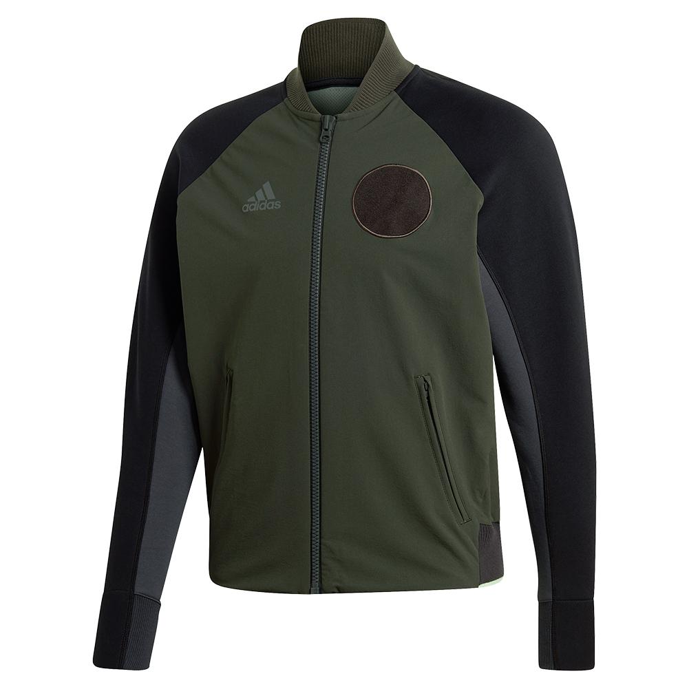 Men's Ny Varsity Tennis Jacket Legend Earth