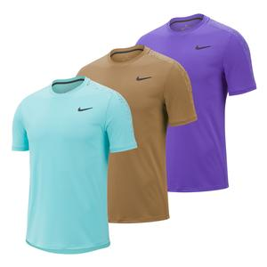 Men`s Court Dry Graphic Short Sleeve Tennis Top
