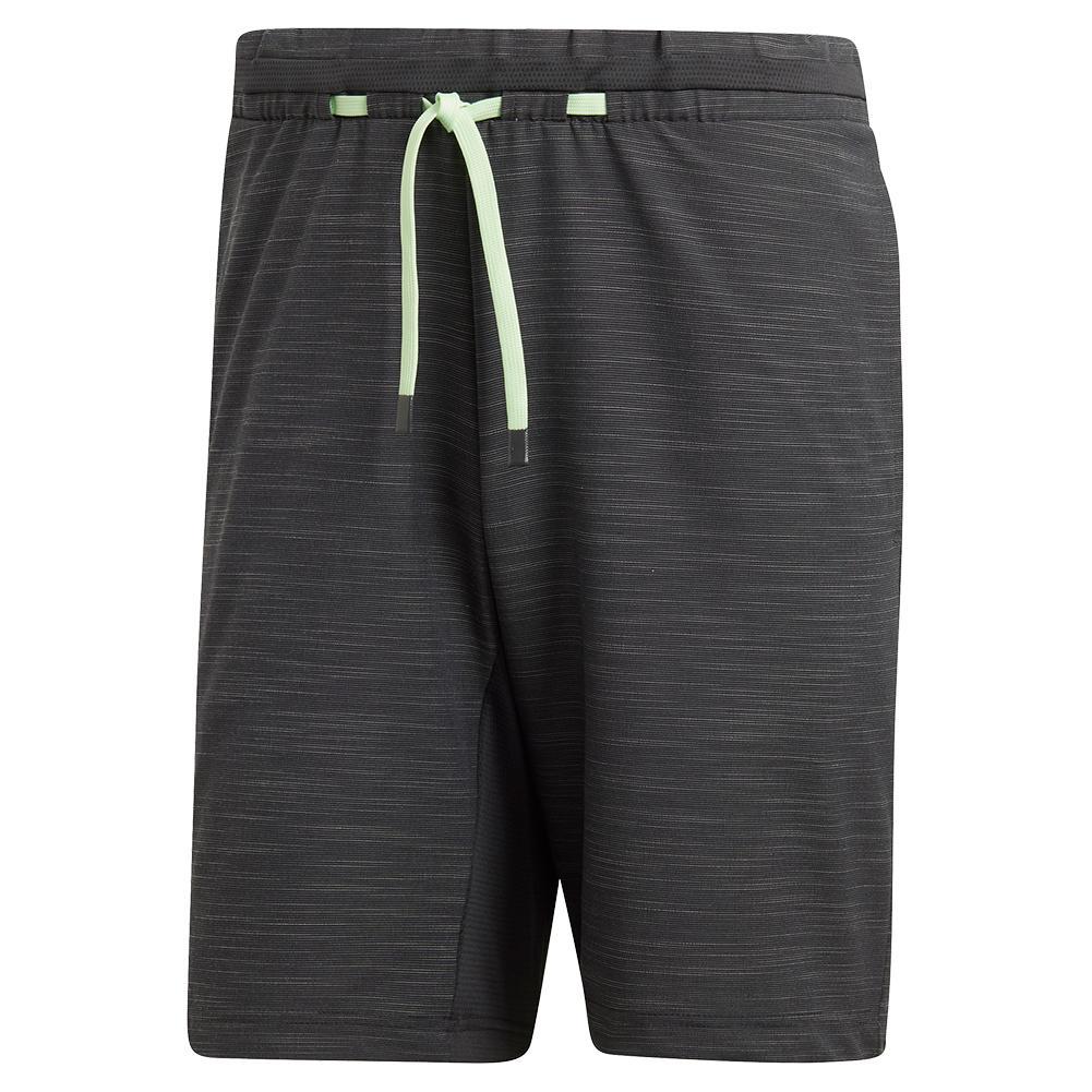 Men's Ny Melange 9 Inch Tennis Short Carbon
