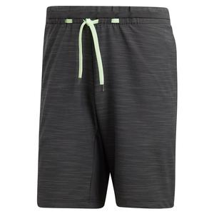 Men`s NY Melange 9 Inch Tennis Short Carbon