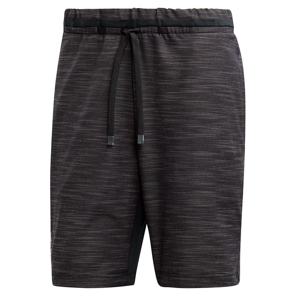 Men's Ny Melange 9 Inch Tennis Short Black