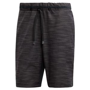 Men`s NY Melange 9 Inch Tennis Short Black