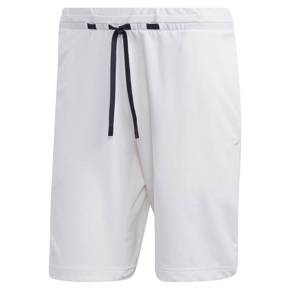 Men's Ny Melange 9 Inch Tennis Short White