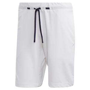 Men`s NY Melange 9 Inch Tennis Short White