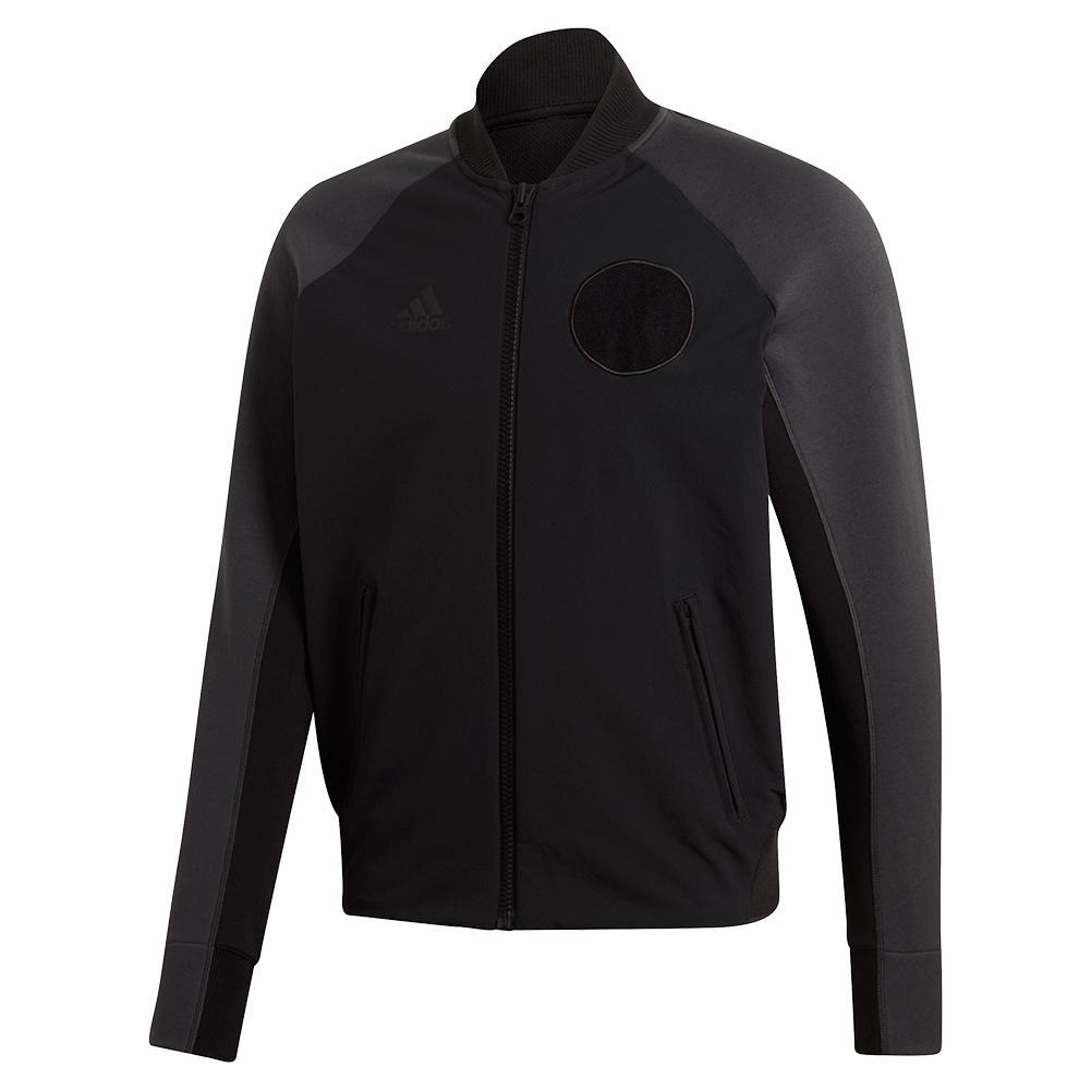 Men's Ny Varsity Tennis Jacket Black