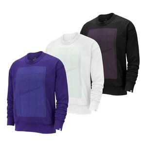 Men`s Court Fleece Reversible Long Sleeve Tennis Crew