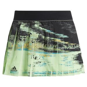 Women`s NY 12.5 Inch Tennis Skort Glow Green and Black
